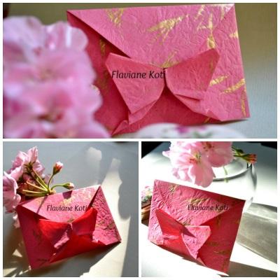 Envelope de origami borboleta
