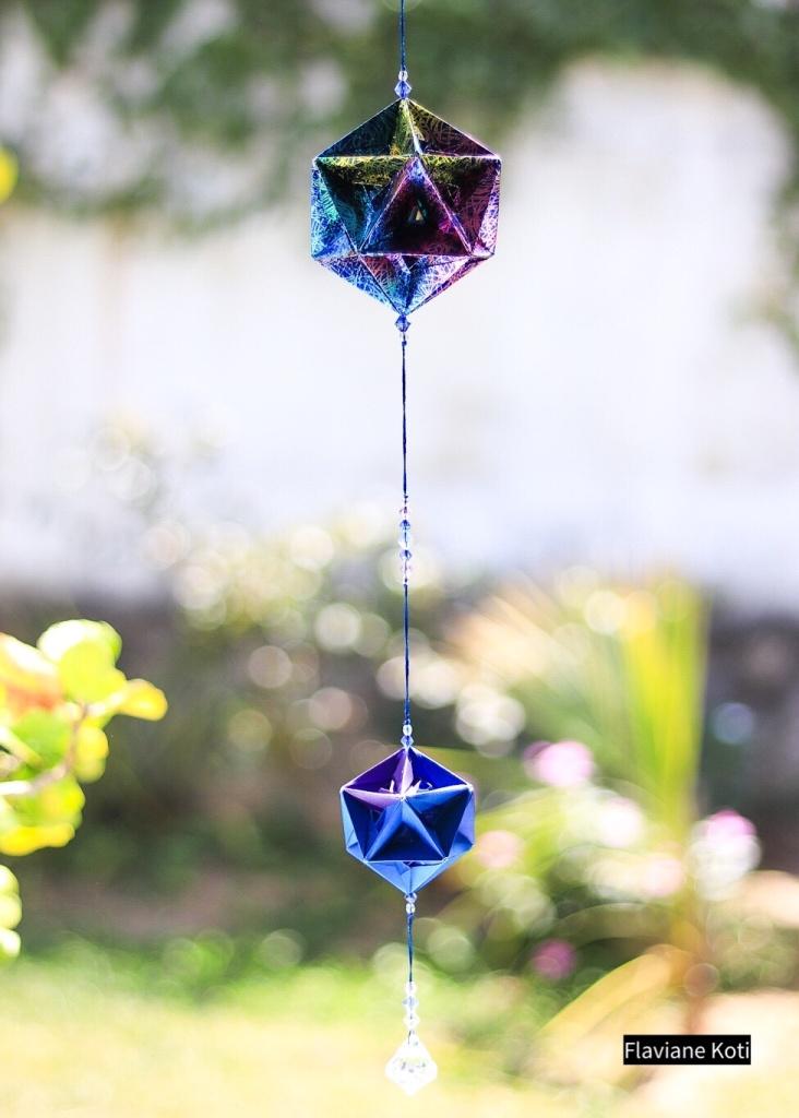 Kusudama origami em móbile, Vida, designer Flaviane koti