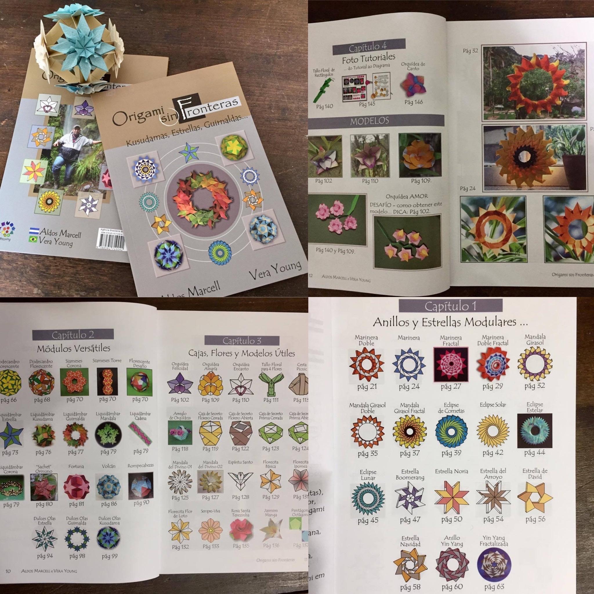 livro de origami, flores, kusudamas, origami modular, decoração, utilitários, guirlandas, arranjos florais, estrelas, mandalas