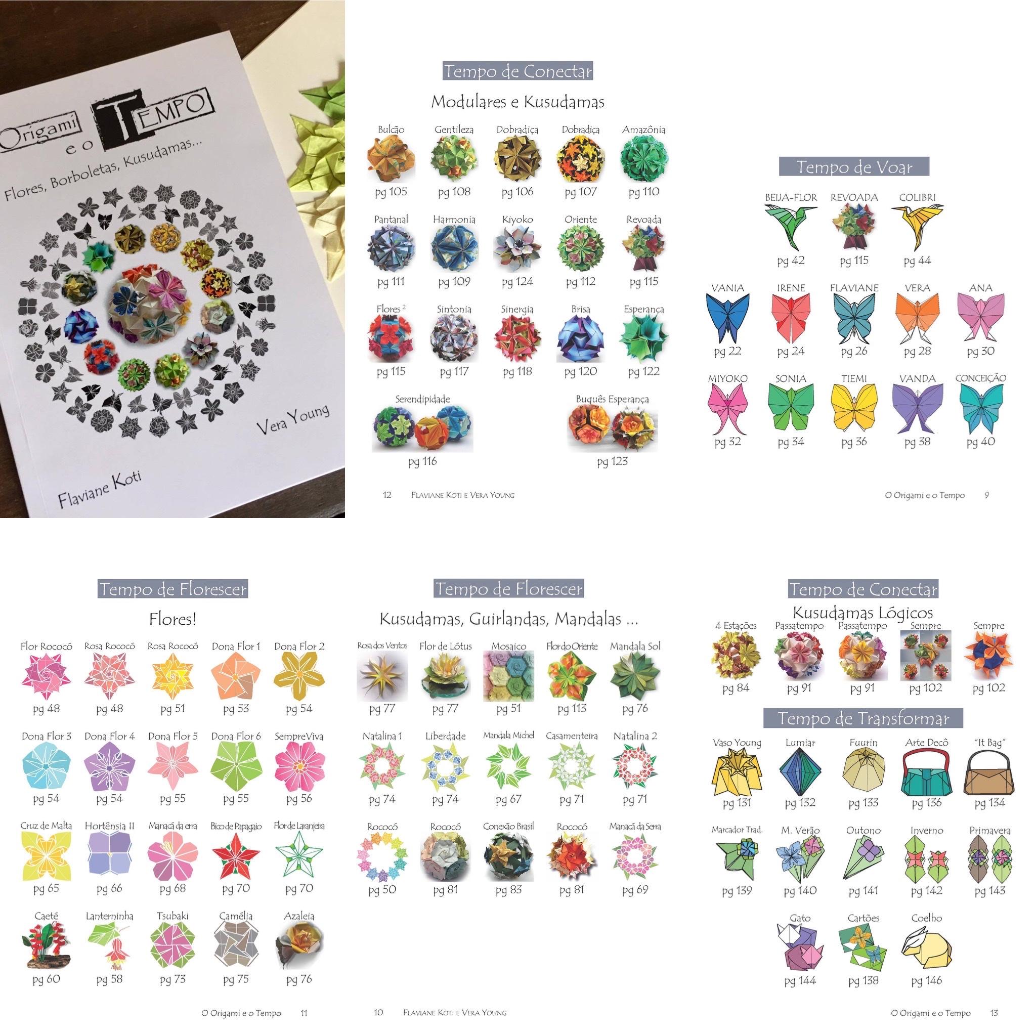 livro de origami, flores, kusudamas, origami modular, decoração, utilitários, guirlandas, arranjos florais, borboletas, beija-flor,  dobradura, diagramas passo a passo