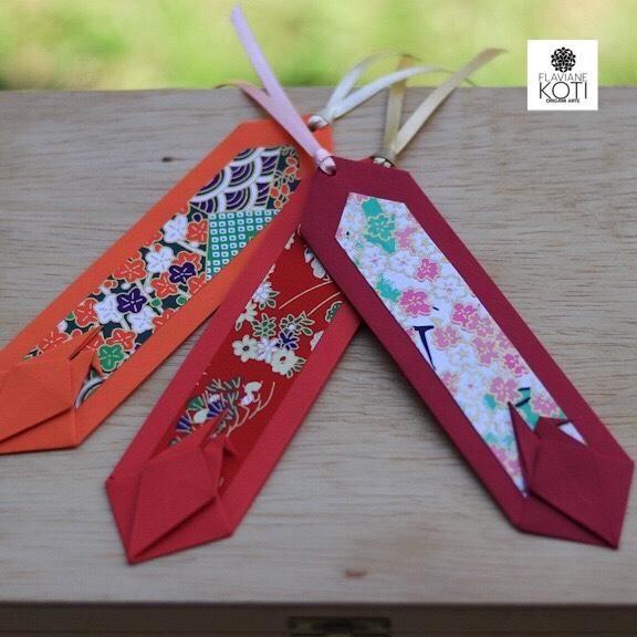 marcadores de livro em Origami TSURU